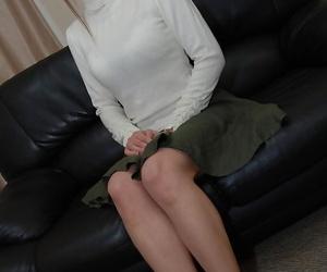Asian MILF Chiho Sakurai undressing and exposing her..