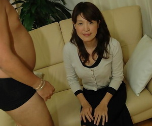 Asian MILF has some pussy fingering and vibing fun and..