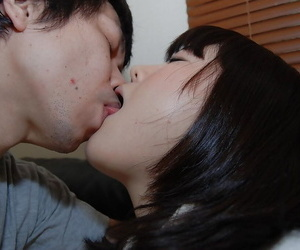 Asian sweetie with tiny titties Arisa Maeda gets her pussy..
