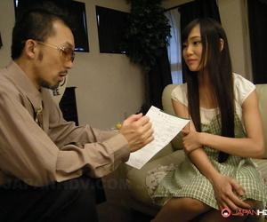 Hot Japanese teen Shiho Miyasaki gets her feet worshipped..