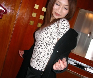 Slutty asian cutie gets her hairy pussy stuffed with..