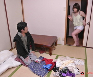 Sweet Asian girl Yui Ayana tastes a dick and gets rammed..