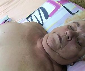 Very old Granny masturbate with..