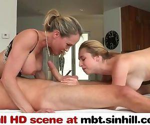 Big Tit Mom Teaches Her Cute Teen..
