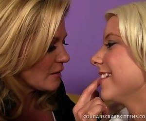 Hot MILF Teaches Cute Teen Girl..