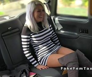 Blonde flashing cunt for female..