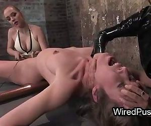 Bdsm brunette babe waxed and..