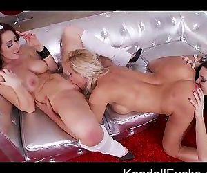Christmas 3-Way Lesbian Fun