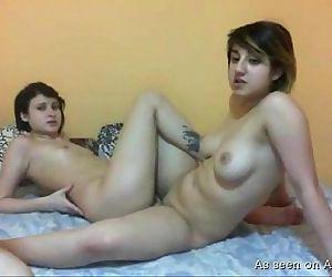 Naked lesbos play..
