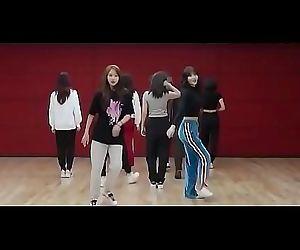 9 Korean girls having an orgy..