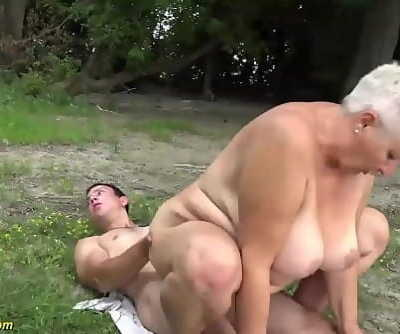 busty 69 years old plumper grannie outdoor banged 12 min 1080p