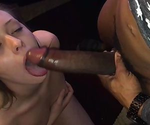 Sexy White Teen Barley Fits BBC in Her Mouth! HD!