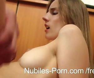 Nubiles Porn - Hard fuck makes Czech amateur squirt