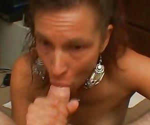 Small tits bitch gives great handjob