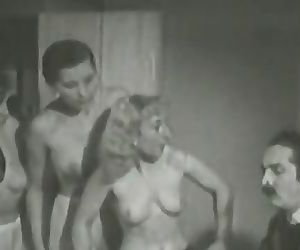 3 Mature Ladies get Naked in Office (1940s Vintage)
