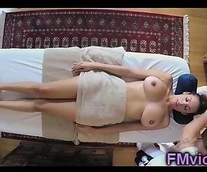 Busty Serena Ali fucking with masseur
