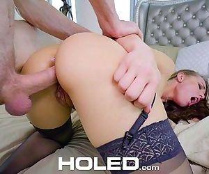 HOLEDCute brunette Aidra Fox enjoys an anal fuckfestHD