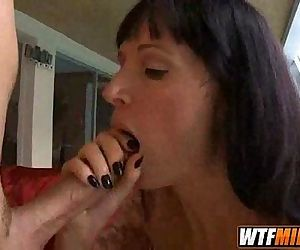 European mother fucks stepson Angie Noir 4