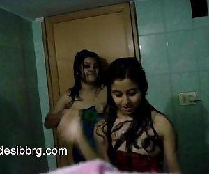 indian-two-hot-hostel-girls-enjoy-dancing-in-shower-getting-wet - 1 min 23 sec