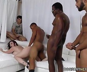 Slut Sara Jay Gangbanged by black dicks