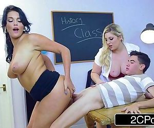 British College Professor Ashley Downs Seduces Students Emma Leigh and JordiHD