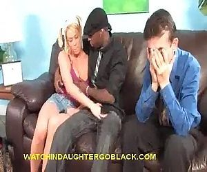 Black Sucking Blonde Teen - 5 min