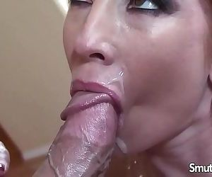 MILF pornstar fucks and facialHD