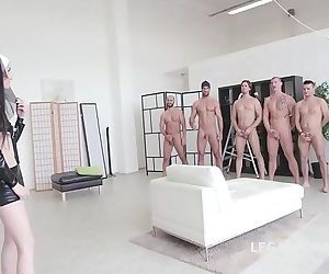 Incredible Video!! Super Model Crystal Greenvelle 7on1 Double Anal GangBang HD