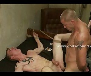 Bondage army officer punishes soldier