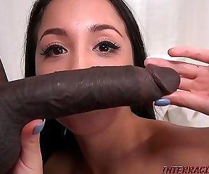 Casting petite asian girl gets big black dick 15 min HD+