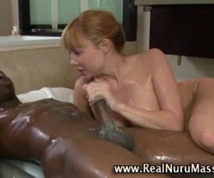 Nasty massage fetish hoe gets a cumshot - 5 min