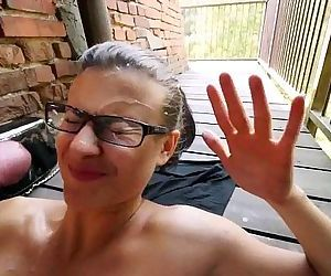 Teacher gets a facial on her glases in public - www.FreeLiveCam69.com - 45 sec