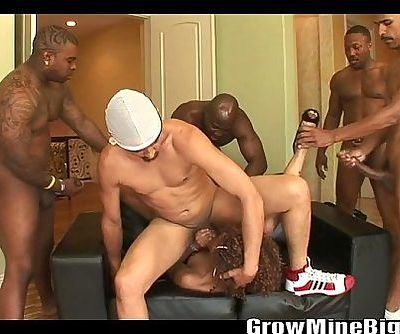 MISTY STONE gangbang scene