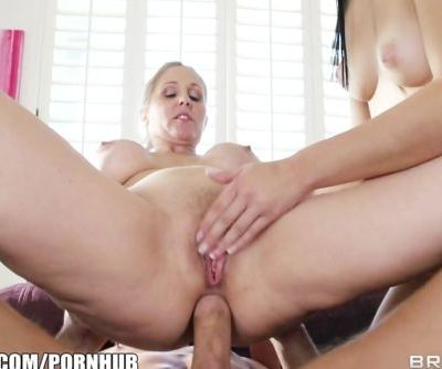 Trophy wife teaches her daughter anal sex
