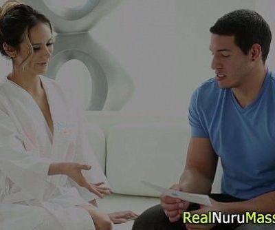 Nuru masseuse bounces wam - 5 min