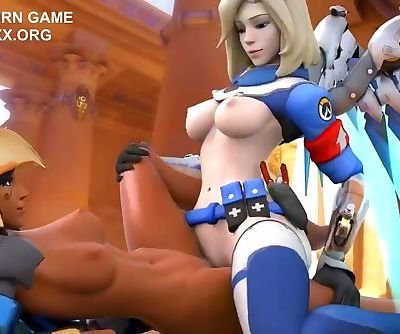 Dark and White Hentai Lesbians in amazing free 3d porn game