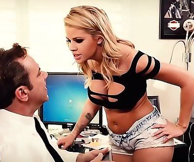 Raging guy fucks a sexy blonde babe hard in his office 6 min 720p