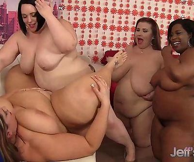 Plumper lesbian orgyHD