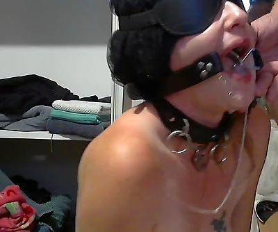 slave face fucked with o ring gag