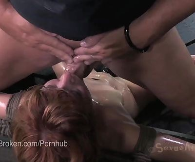 Cute Redhead Claire Robbins Cums Uncontrollably with Dick Down her Throat