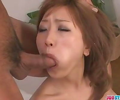 Aika horny chick double blowjob and hot sex