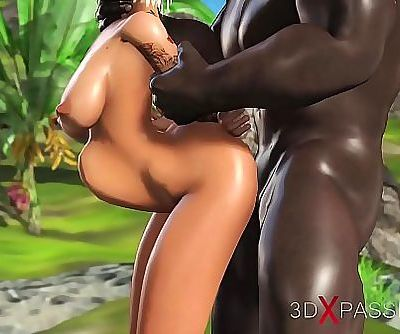 3dxpassion.com. Sweet schoolgirl dreams to have sex with a black man on a lost island 6 min 720p