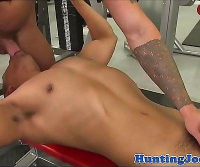 Ripped gym jocks going down on cock 4 min 720p