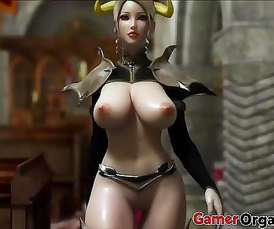 GamerOrgasm.com | Hardcore 3D Big Tits Beauty Queen 16 min