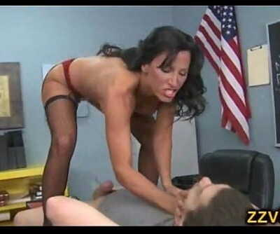 Horny teacher Lezley Zen fuked by student