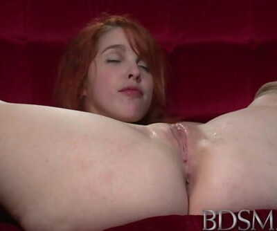 BDSM XXX Young Redhead sub is tied up and given multiple orgasms