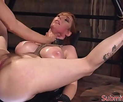 Busty redhead submissive assfucked in BDSM 6 min