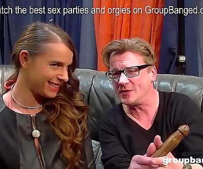 Amazing german milf model enjoys getting fucked by everybody in a gangbang 5 min 1080p