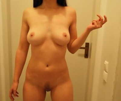 Wife comes out of her bedroom after having sex to show me her creampie