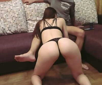 Hot Russian babe cums from sex